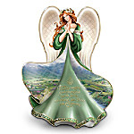 Irish-Inspired Heirloom Porcelain Irish Angel Figurine: May Angels Gather Round