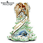 Thomas Kinkade Jeweled Christmas Angel Of Peace Figurine