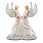 Breast Cancer Support Musical Figurine: Take My Hand And Together We Will Make It Through