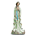 Blessed Virgin Mary Heirloom Porcelain Figurine: Our Lady Of Lourdes