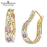 Thomas Kinkade Memories Of Beauty Floral Earrings