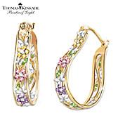Thomas Kinkade Memories Of Beauty Floral Earrings