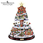 Thomas Kinkade Illuminated Musical Rotating Tabletop Christmas Tree: Winter Festival