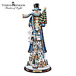 Thomas Kinkade Home For The Holidays Tall Snowman Figurine