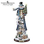 Thomas Kinkade Home For The Holidays Tall Snowman Figurine