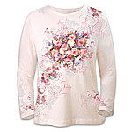 Lena Liu's Artistic Design Breast Cancer Awareness Shirt: Hope Blooms