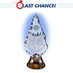 Wolf Decor Crystalline Arrowhead Wolf Art Figurine: Spirit Of Courage