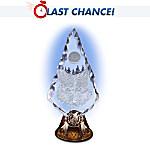 Crystalline Arrowhead Wolf Art Figurine: Spirit Of Courage