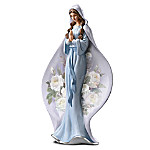 Blessed Virgin Mary Heirloom Porcelain Figurine: Queen Of Heaven