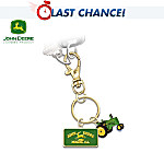 John Deere Collector's Key Chain With Model G Tractor Charm