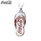 Coca-Cola Diamond Flip Flop Pendant Necklace