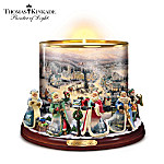 Thomas Kinkade Heirloom Porcelain Candleholder: It's Time For Christmas