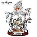 Thomas Kinkade Santa Claus Tabletop Crystal Figurine: Santa Claus Is On His Way