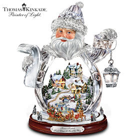 Thomas Kinkade Santa Claus Is On His Way Figurine