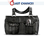 Elvis Presley 68 Comeback Special Black Leather Handbag