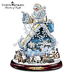Thomas Kinkade Moving Santa Claus Tabletop Figurine