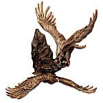 Where Eagles Soar Bronze-Toned Corner Wall Decor