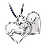 Dachshund Best Friends Forever Personalized Pendant Necklace