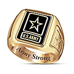 The U.S. Army Men's Ring With Army Strong Engraving