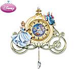 Cinderella Sculpted Wall Clock: Midnight's Spell