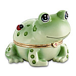 Hoppy Frog Heirloom Porcelain Animoges Music Box