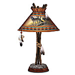 Native American Inspired Tabletop Lamp: Tribal Spirits