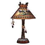 Native American Inspired Tabletop Lamp: Tribal Spirits