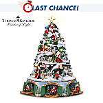 Thomas Kinkade Santa's Christmas Journey Tabletop Christmas Tree