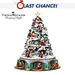 Thomas Kinkade Santa's Christmas Journey Tabletop Christmas Tree