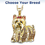 Yellow Lab Best In Show Crystal Pendant Necklace