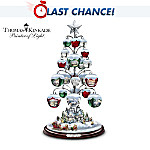Thomas Kinkade Jingle All The Way Bell Ornament Tabletop Christmas Tree