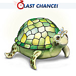 Louis Comfort Tiffany-Style Porcelain Turtle Lamp: Natures Brightest Wonder