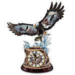 Eagle Art Clock: Majestic Strike