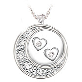 I Love You To The Moon And Back Diamond Pendant Necklace