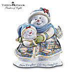 From the first moment you held her, to the heart-to-heart talks you share, your daughter has brought you so much happiness. Now, a charming collectible Thomas Kinkade figurine - Snow Daughter Like My Daughter - celebrates the sparkle your daughter brings to your life. Pay tribute to a love that only a mother and daughter share with this limited-edition Thomas Kinkade figurine, a Bradford Exchange exclusive. This mother-daughter figurine is handcrafted in artist's resin and hand-painted in the Painter of Light™'s luminous hues. Mother and daughter's coats are embellished with Mr. Kinkade's beloved holiday artwork. Glitter-touched snow and gleaming golden accents add to the festivity. Strong demand is expected, and you won't want to miss out. Order now!