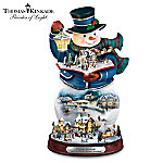 Thomas Kinkade Storytelling Light-Up Snowman Figurine
