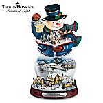 Thomas Kinkade Storytelling Light-Up Snowman Figurine: Twas The Night Before Christmas