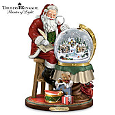 Thomas Kinkade Santa's Checking His List Sculpture