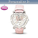 Disney Princess Personalized Swarovski Crystal Watch