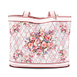 Lena Liu Breast Cancer Support Floral Design Tote Bag: Hope Blossoms