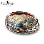 Thomas Kinkade Genuine Crystal Paperweight: The Light Of Peace