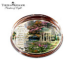 Thomas Kinkade The Garden Of Prayer Crystal Paperweight