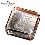 Thomas Kinkade The Forest Chapel Crystal Paperweight