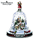 Thomas Kinkades Ring In The Season Crystal Bell Table Centerpiece