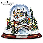 Thomas Kinkade Jingle Bells Illuminated Musical Christmas Snowglobe