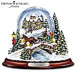 Thomas Kinkade Jingle Bells Illuminated Musical Christmas Snowglobe
