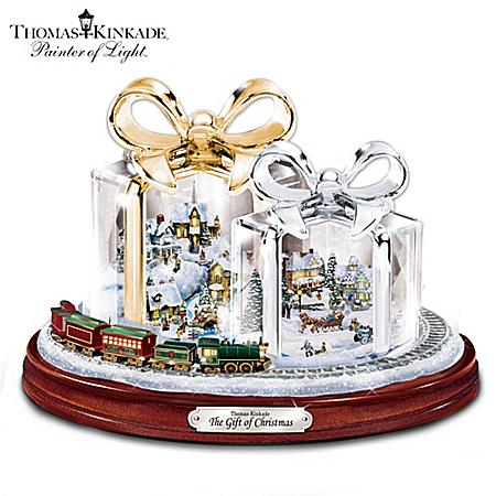 Thomas kinkade the gift of christmas table centerpiece ebay - Table gifts for christmas ...