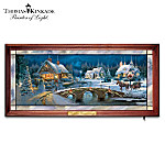 Thomas Kinkade Illuminated Stained-Glass Panorama Wall Decor