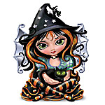 Jasmine Becket Griffith Don't Be A Scaredy Cat! Halloween Figurine