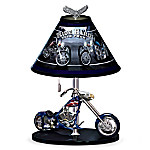 Patriotic American Eagle Chopper 15-Inch Tall Table Lamp: Freedom Rider